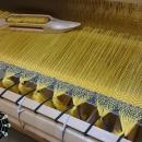 """""""Asymmetrical colours"""" shawl / Szal """"Niesymetryczne kolory"""" by Tender December, Alina Tyro-Niezgoda More / Więcej: http://tenderdecember.eu/painting-with-acryl-malowanie-akrylem/ To buy / Aby kupić: http://tenderdecember.eu/shop/produkt/acrylic-xxl-shawl-color-yellow-green-akrylowy-szal-xxl-w-tonacji-zolci-zieleni/"""