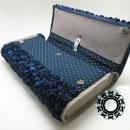 """Blue rose bag / Torebka """"Granatowa róża"""" by Tender December"""